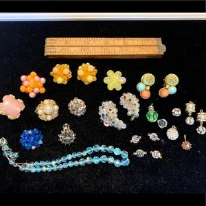 Vintage beaded jewelry for crafts, repurposing